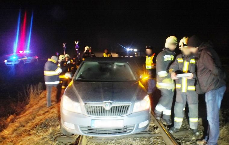 A sofőr 40 métert tett meg a síneken