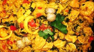 Házi tengeri herkenytyűs spanyol paella