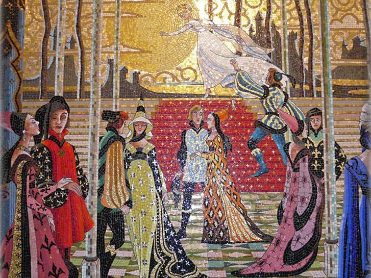 cinderella castle mosaic 301 large