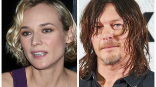 Diane Kruger a The Walking Dead sztárjával jár