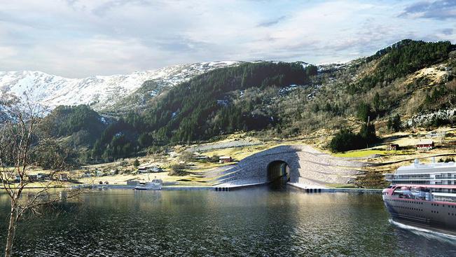 Norvégia hajóknak épít alagutat