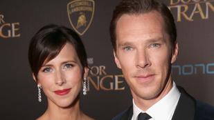 Megszületett Benedict Cumberbatch második gyereke