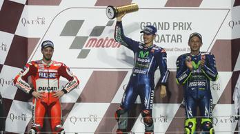 Rossi 10.-ről 3., csapattársa azonnal nyert a Yamahán