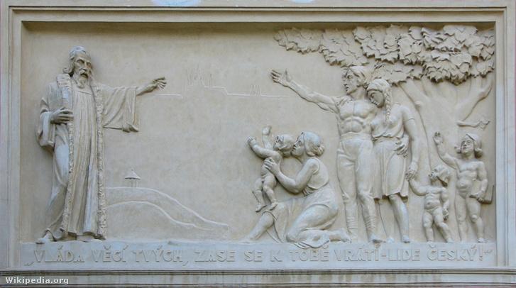 Comenius egy iskolai reliefen