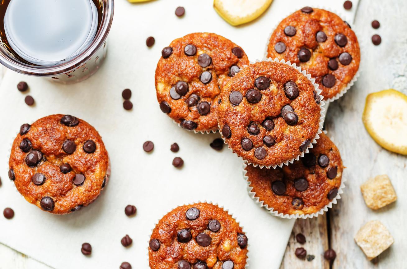 Banános muffin ropogós csokidarabokkal - Fantasztikusan puha és finom desszert
