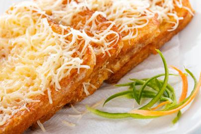 Egyszerű sajtos bundás kenyér