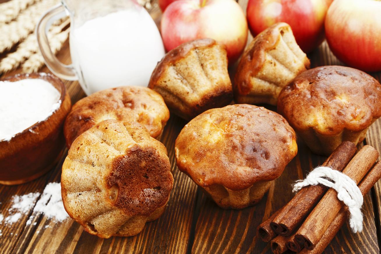 Egyszerű almás-fahéjas muffin, amelyből egy adag soha nem elég