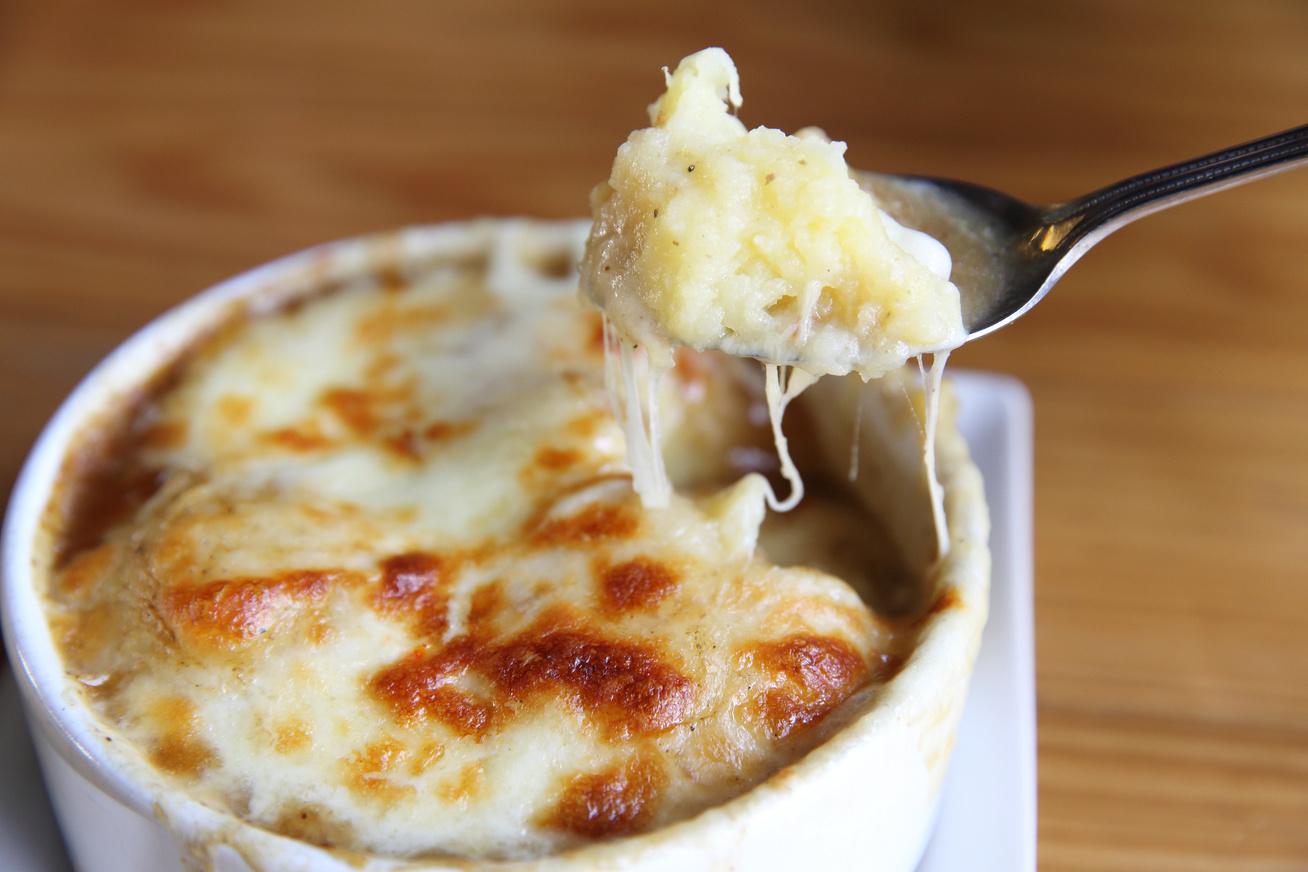 Sajtos, mustáros krumplipüré