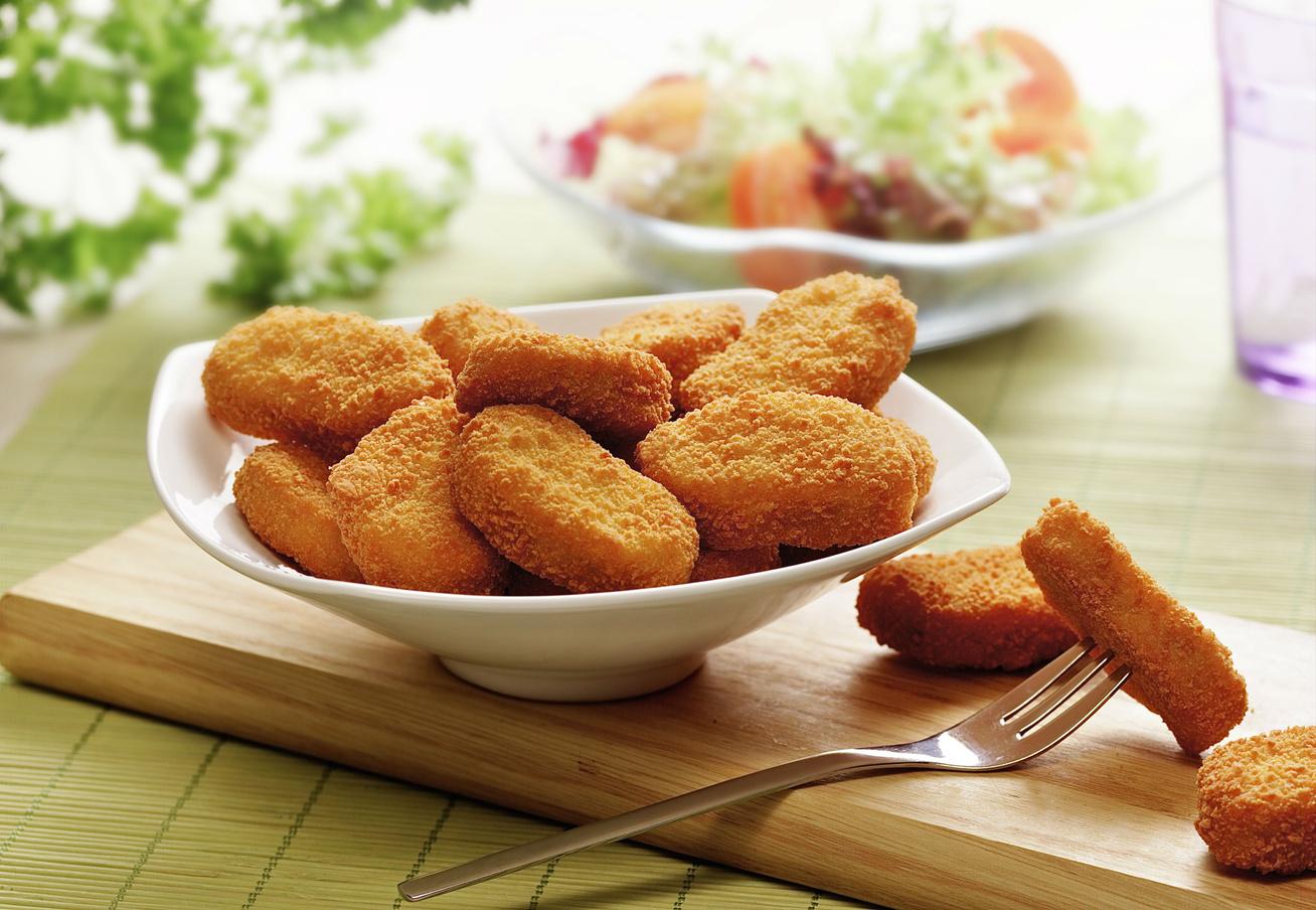Házi csirke nuggets sütőben sütve