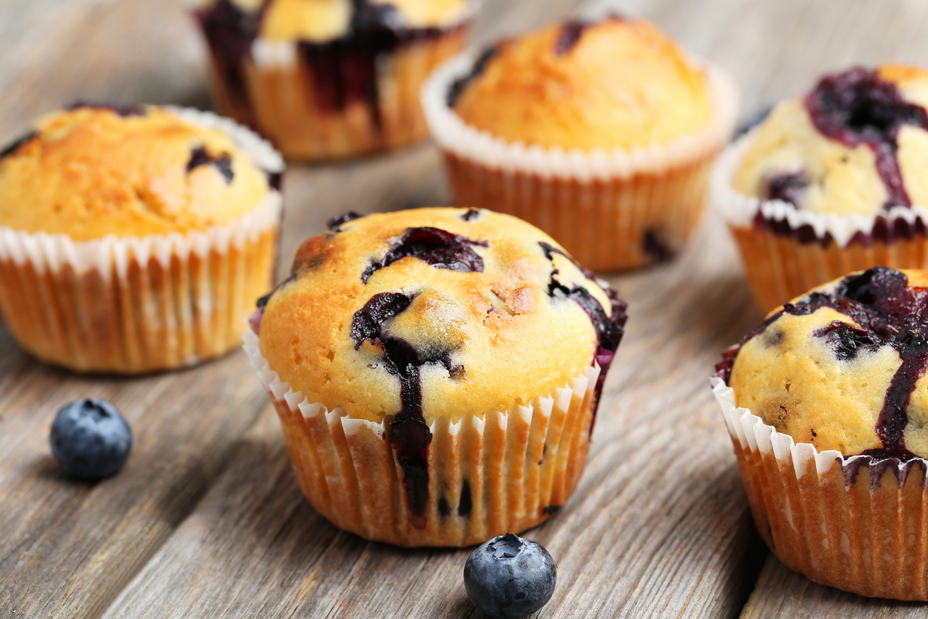 Elképesztően puha áfonyás muffin