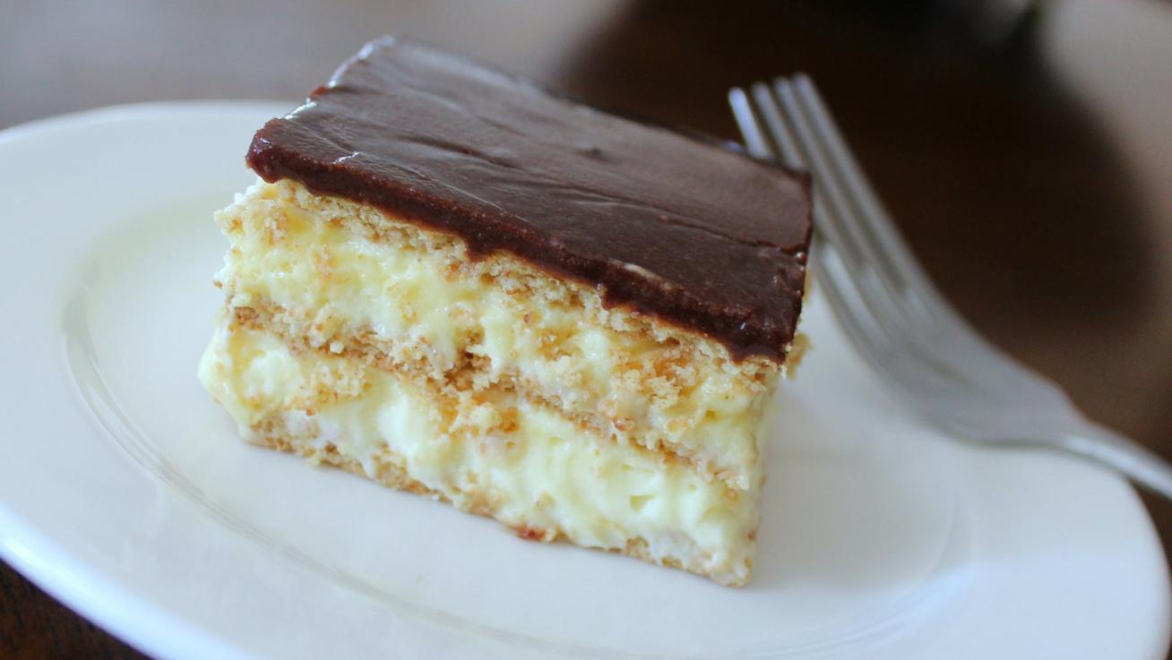 Csokis-kekszes süti lágy krémmel