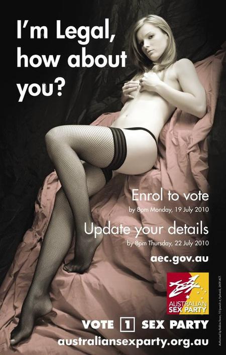 A párt kampányplakátja