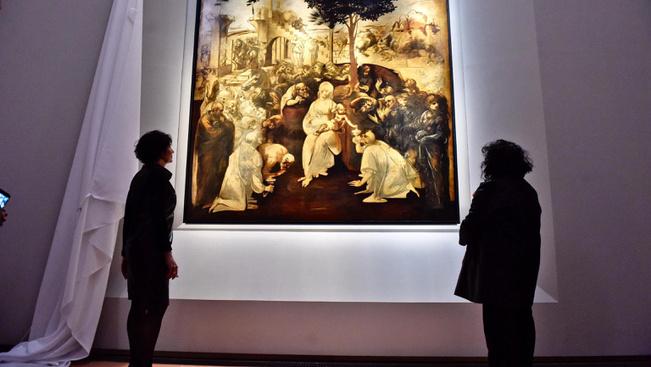 Újra látható a restaurált Leonardo-kép Firenzében