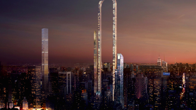 U-alakú felhőkarcolót terveznek New York-ba