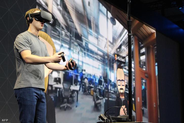 Mark Zuckerberg egy 2016-os Oculus fejlesztői konferencián