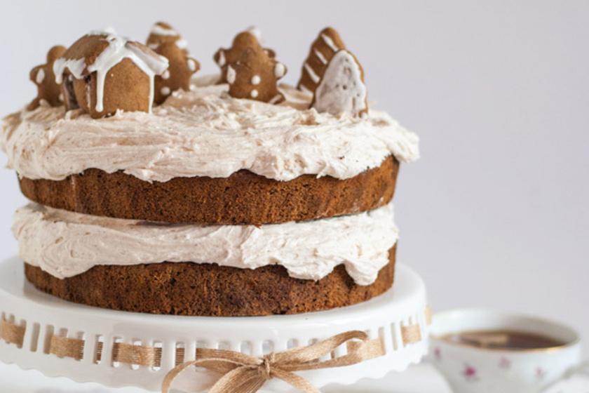 Isteni és illatos mézeskalács-piskóta torta: a legfinomabb karácsonyi édesség