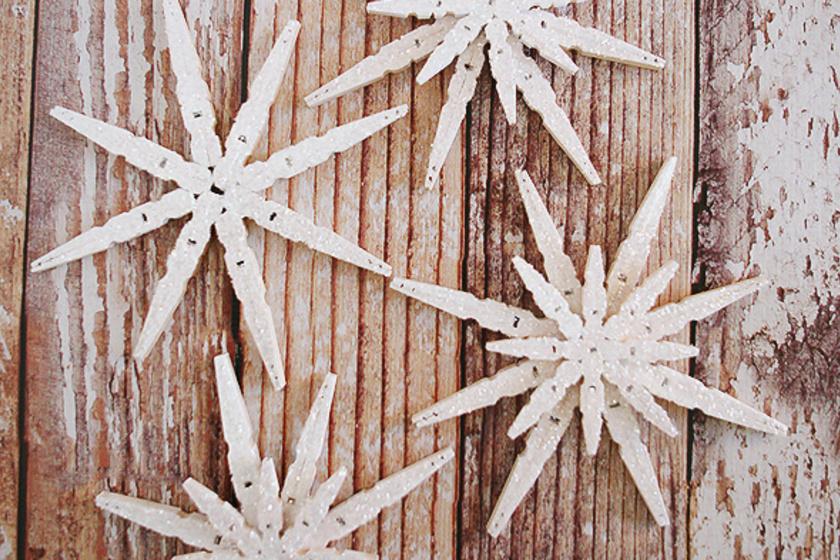 Álomszép karácsonyfadíszek ruhacsipeszből! Nagyon egyszerű elkészíteni