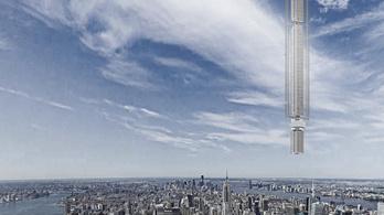Űrből lógó felhőkarcolót építenének Manhattan fölé