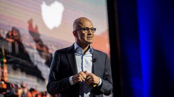 A Microsoft-vezér Budapesten is a felhőben járt