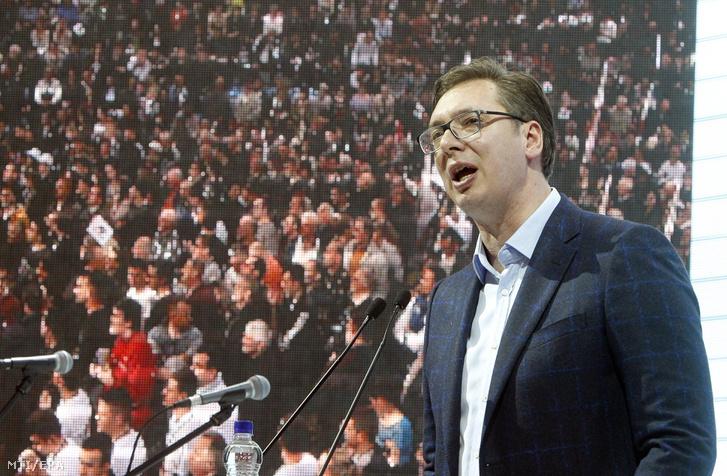 Aleksandar Vučić az elnöki kampány közben