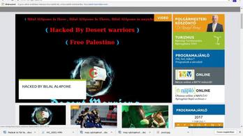 Palesztin hekkerek törték fel Nyíregyháza honlapját