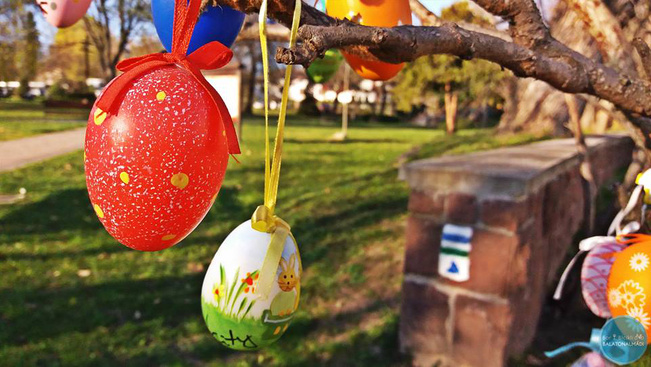 Több száz tojást várnak Balatonalmádi színes tojásfájára