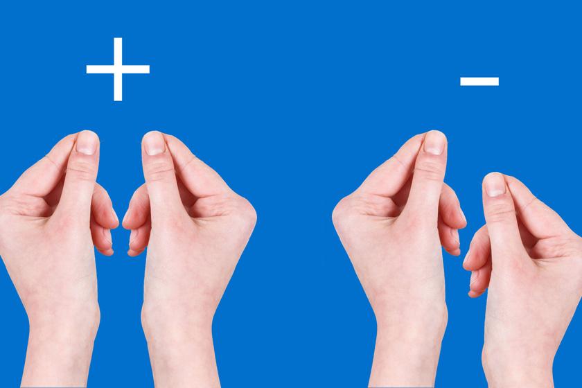 Balra az igenlő, jobbra a nemleges testválaszt látod