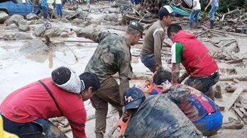 Kétszáz fölé emelkedett a kolumbiai árvíz áldozatainak száma