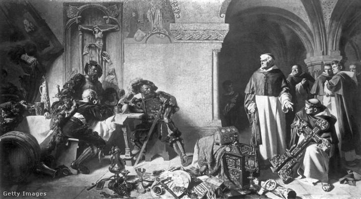 1537 körül: VIII. Henrik elkobozza a katolikus kolostorok vagyonát