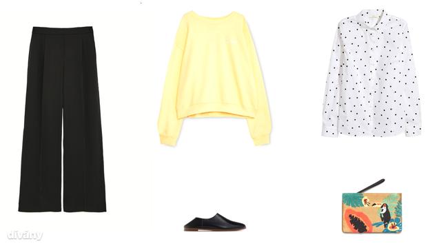 Nadrág - 9995 Ft (Zara) , pulóver - 6995 Ft (Pull&Bear) , ing - 5990 Ft (H&M) , cipő - 9995 Ft (Zara), táska - 9995 Ft (Mango)