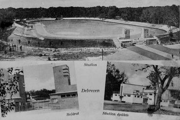Debrecen, Ady Endre sugárút, Nagyerdei Stadion (elpusztult), 1933–1934