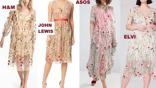 Szinte ugyanazt a virágmintás ruhát árulja több megfizethető márka is