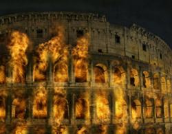 Az égő Colosseum látványterve