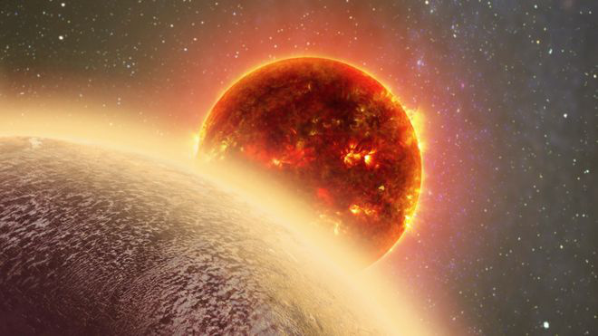 Művészi koncepció a GJ1132b bolygóról