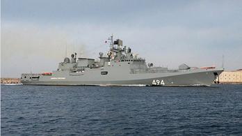 Orosz hadihajót vezényeltek Szíria partjaihoz