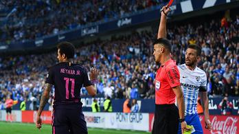 Neymar bukja a Clasicót, három meccsre eltiltották
