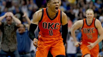 Westbrook 55 éves NBA-rekordot döntött meg, aztán dudaszós triplát dobott