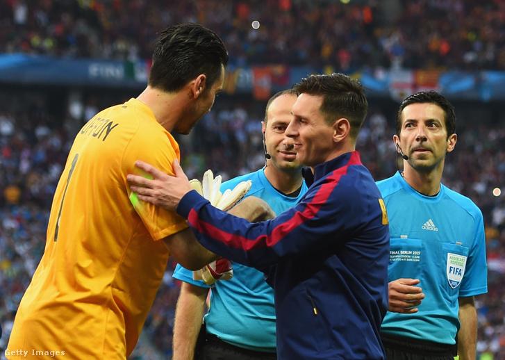 Buffon és Messi a 2015-ös BL-döntőn, a Barca 3-1-re nyert
