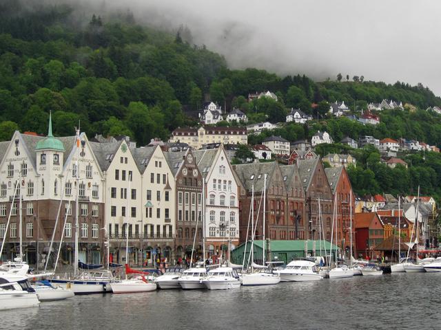 Bergen tengerparti házai