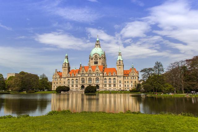 Az új városháza Hannoverben