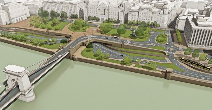 Egy elvetett terv (Forrás: BKK Budapest Szíve galéria)