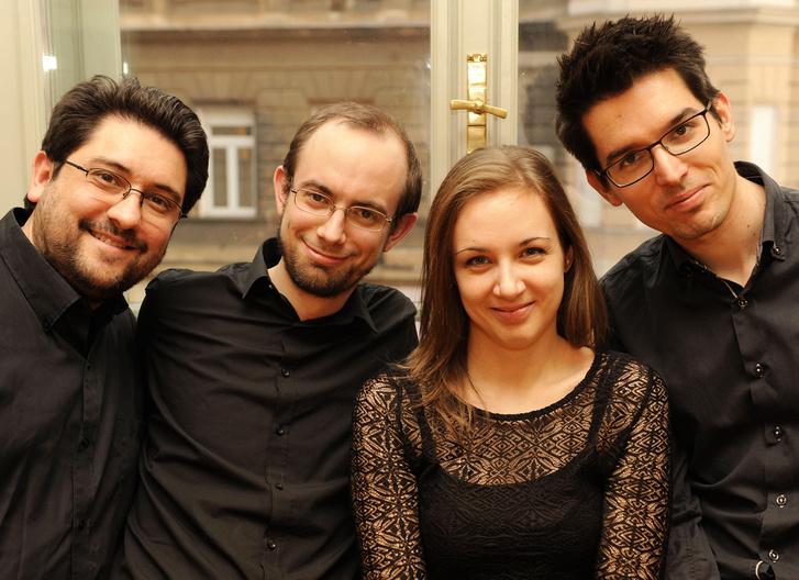A Classicus Kvartett (Rácz József, Tornyai Péter, Baksai Réka, Zétényi Tamás)