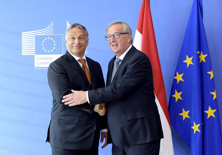 Orbán Viktor miniszterelnök és Jean-Claude Juncker az Európai Bizottság elnöke Brüsszelben