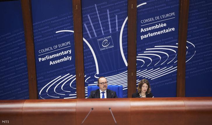 Németh Zsolt az Országgyűlés külügyi bizottságának elnöke delegációvezető az Európa Tanács Parlamenti Közgyűlése alelnöke vezeti a plenáris ülést Strasbourgban 2017. január 25-én.