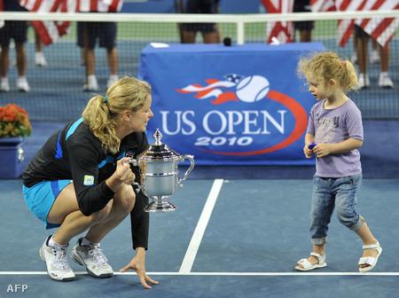 Kim Clijsters és kislánya, Jada