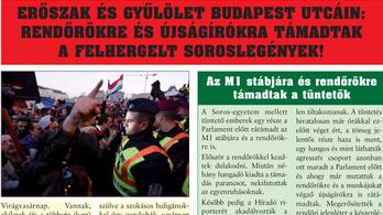 Páratlan agymosás Nagykőrösön: megírták, hogy rendőröket vertek Budapesten a felhergelt soroslegények
