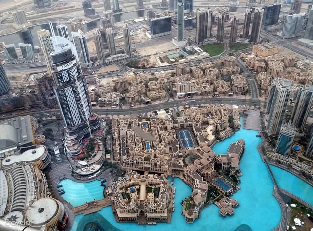 Dubaj a Burdzs Kalifa 124. emeleti kilátójából