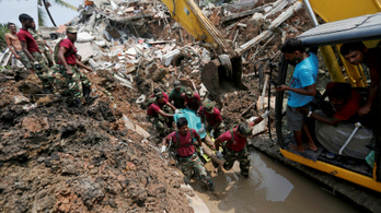Szeméthegyomlás okozott tömeges halált Srí Lankán