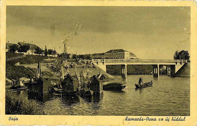 Képeslap 1941-ből: Kamarás-Duna az új híddal