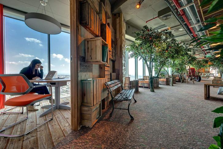 Dolgozószoba a Google tel-avivi irodájában (fotó: google)